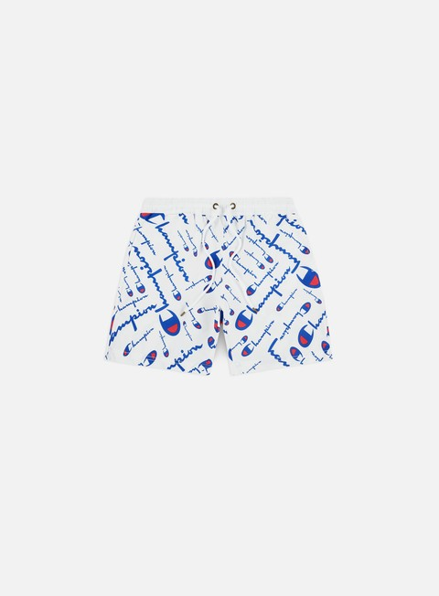 Swimsuits Champion All Over Logo Print Beach Shorts