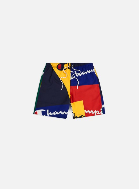 Costumi da Bagno Champion Colour Block All Over Beach Shorts