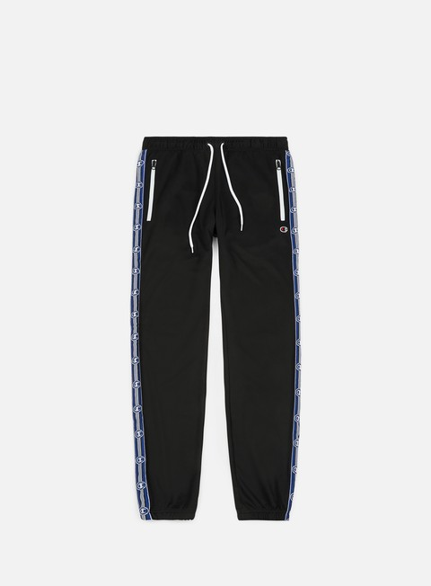 pantaloni champion elastic cuff pants black blue