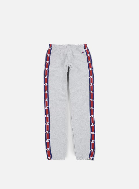 pantaloni champion reverse weave 90s terry pant heather grey