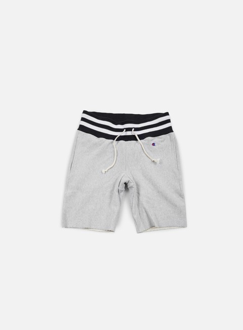 pantaloni champion reverse weave college terry short heather grey