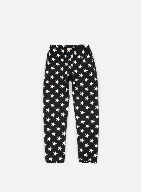 pantaloni champion reverse weave star terry pant black
