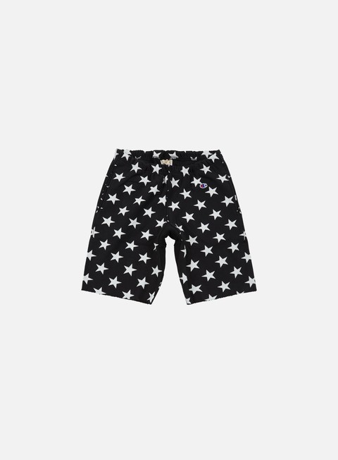 pantaloni champion reverse weave star terry short black