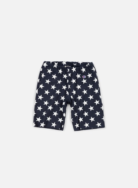 pantaloni champion reverse weave star terry short navy
