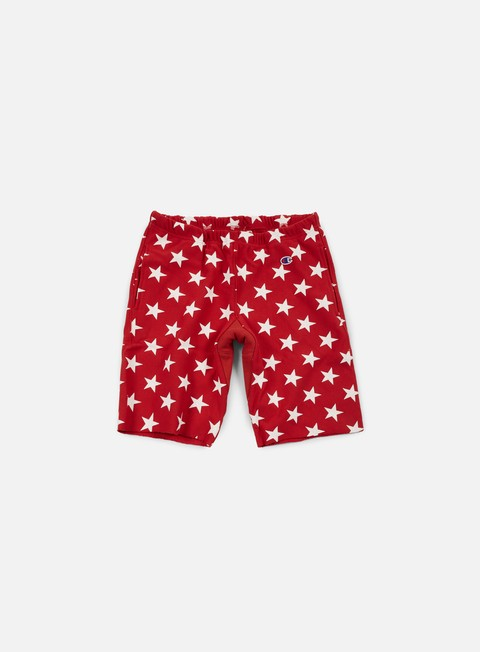 pantaloni champion reverse weave star terry short red