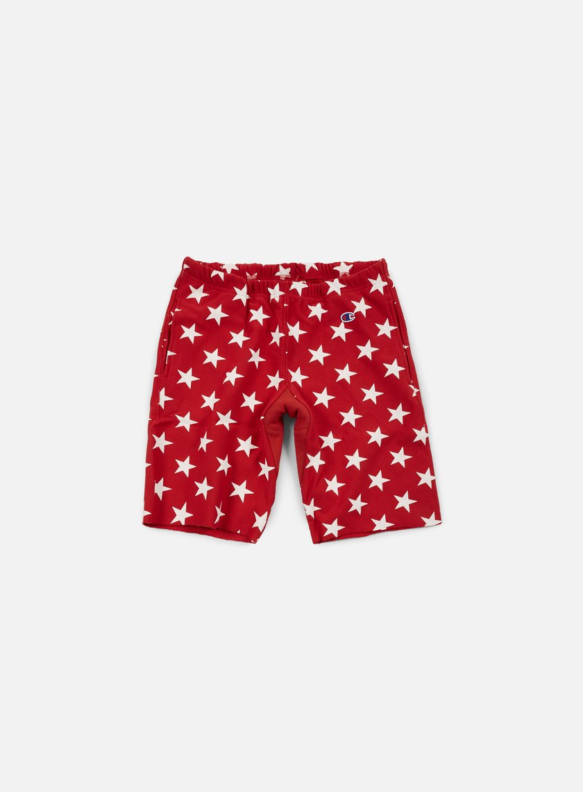 Champion - Reverse Weave Star Terry Short, Red