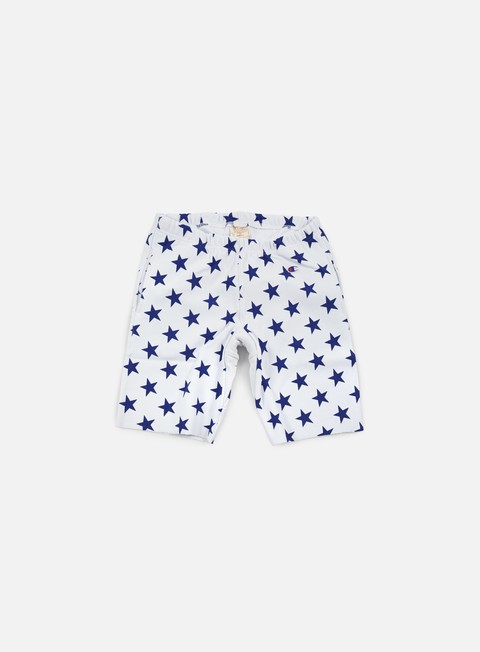 pantaloni champion reverse weave star terry short white