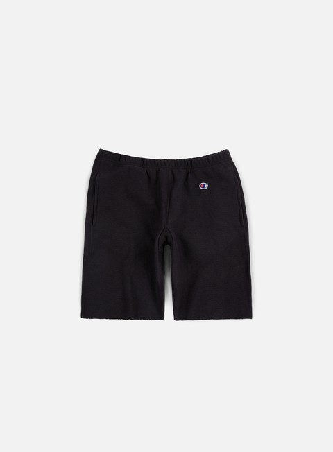 pantaloni champion reverse weave terry short black