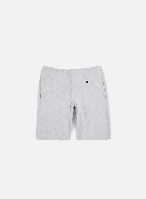 pantaloni champion reverse weave terry short heather grey