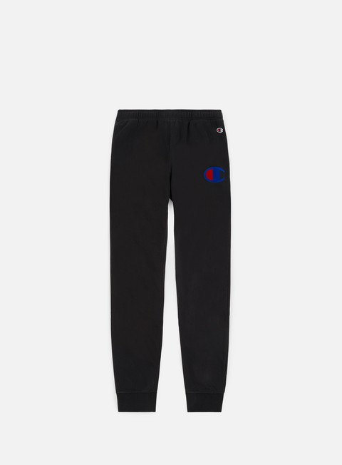 pantaloni champion rib cuff pants black