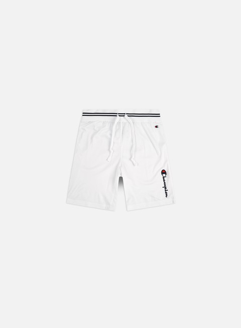 Champion Vertical Script Logo Mesh Basketball Shorts