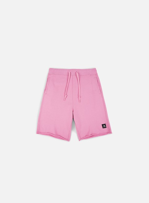 pantaloni converse essential cut off shorts light orchid
