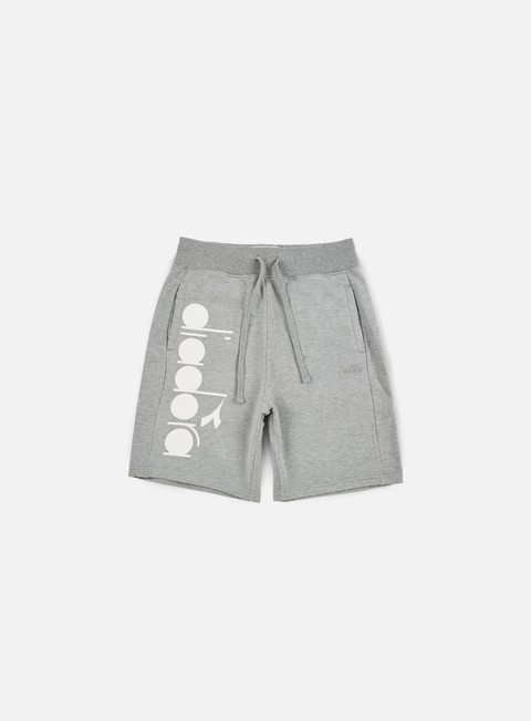 pantaloni diadora bl bermuda short light grey melange