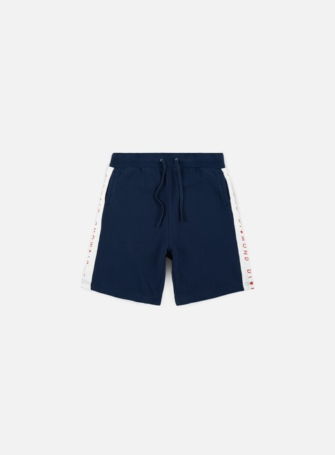 pantaloni diamond supply fordham sweatshorts navy