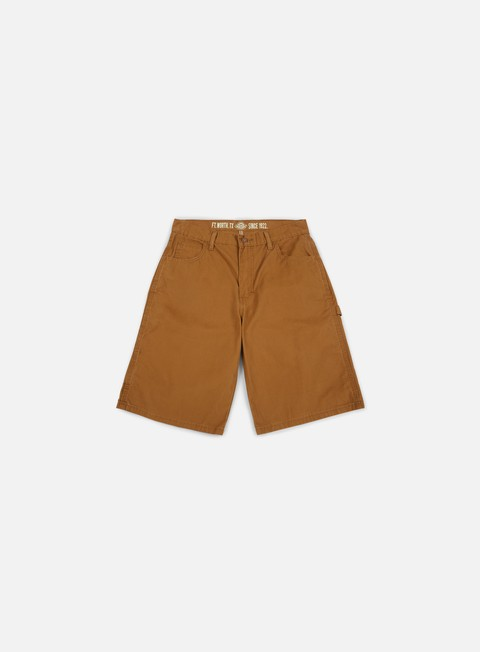 pantaloni dickies 11 lightweight duck carpenter short rinsed brown