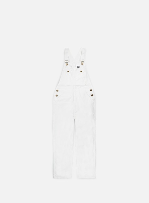 pantaloni dickies purdon bib overall white