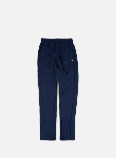 pantaloni fila bianchi track pants peacoat