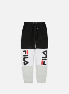 Fila - Brandon Sweat Pants, Bright White/Light Grey Melange/Black 1
