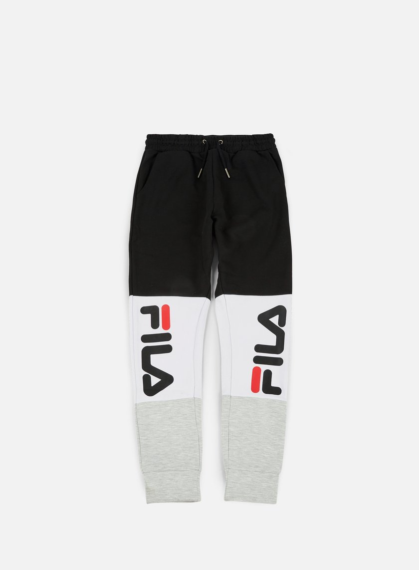 Fila - Brandon Sweat Pants, Bright White/Light Grey Melange/Black