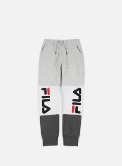 Fila - Brandon Sweat Pants, Light Grey Melange/Bright White/Grey Melange 1