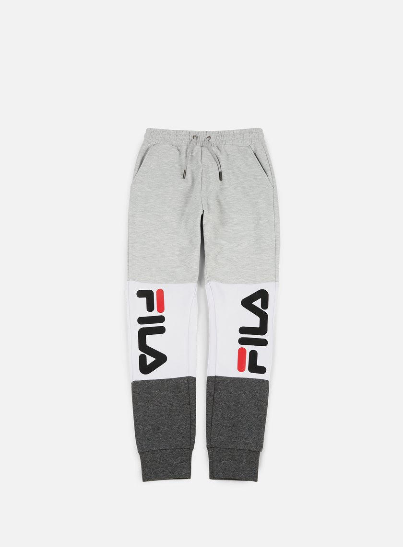 Fila - Brandon Sweat Pants, Light Grey Melange/Bright White/Grey Melange