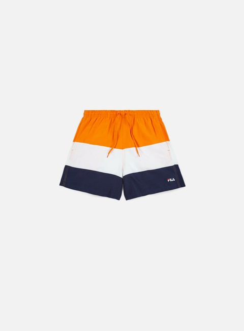 pantaloni fila brock beachshorts persimmon orange peacot bright white