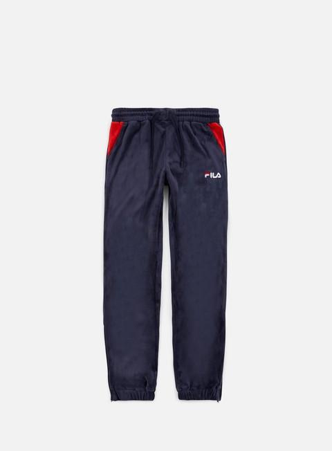 pantaloni fila dax velour pant peacoat red white