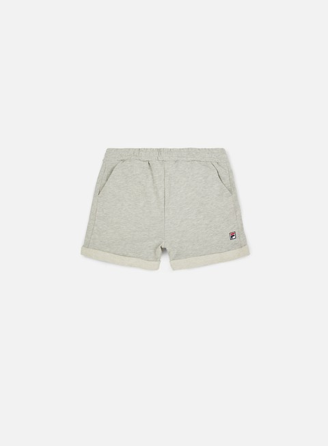 pantaloni fila dustin sweat short light grey melange