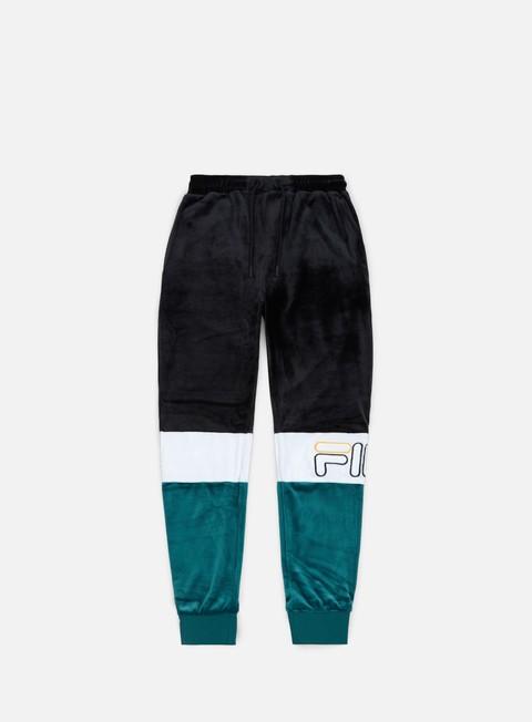 pantaloni fila kaiden velour track pant black