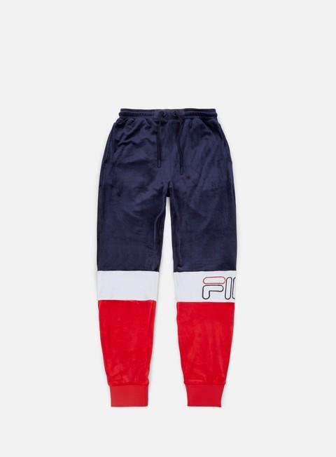 pantaloni fila kaiden velour track pant peacot