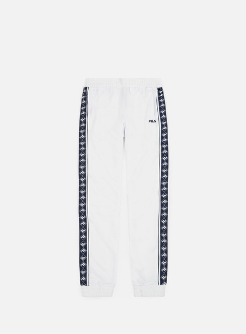 pantaloni fila ralph track pants bright white