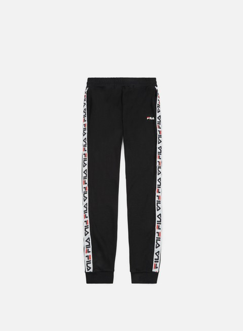pantaloni fila tadeo tape sweat pant black