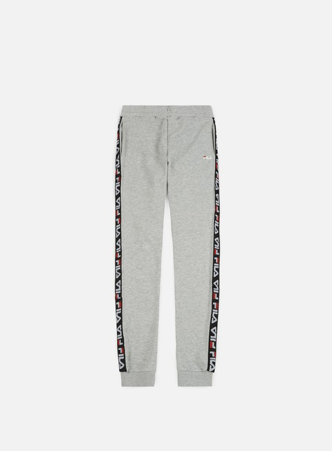 pantaloni fila tadeo tape sweat pant light grey melange bros