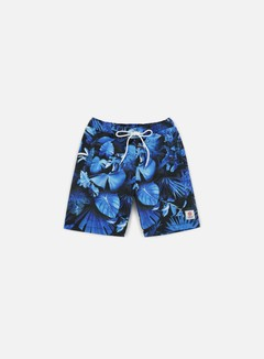 Franklin & Marshall - All Over Print Boardshort, Blue Forest 1