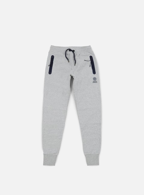 pantaloni franklin e marshall fleece pants grey melange