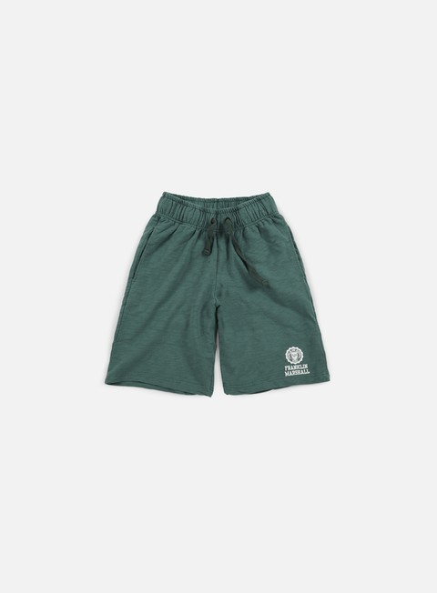 pantaloni franklin e marshall fleece short ivy green