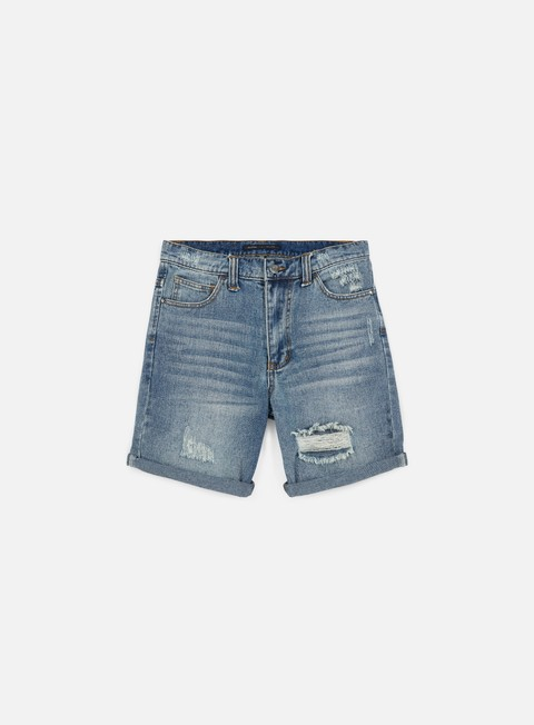 pantaloni globe destroyer denim short destroyed blue