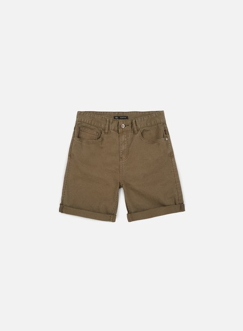 pantaloni globe goodstock denim short digger green