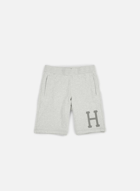 pantaloni huf 3 m classic h fleece short grey heather