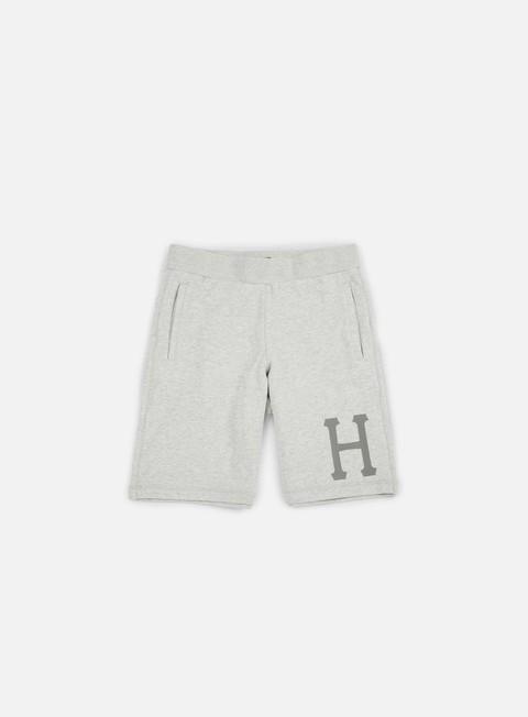 pantaloni huf 3 m classic h fleece short grey heather