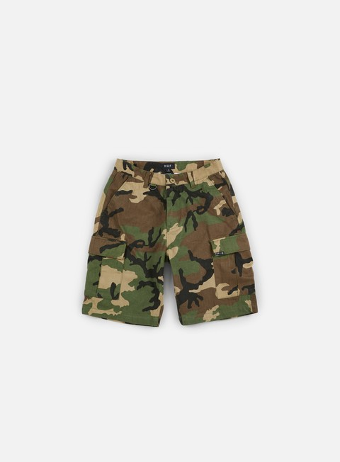 pantaloni huf fatigue cargo short woodland camo