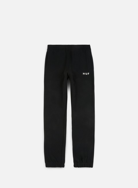 pantaloni huf original fleece pant black