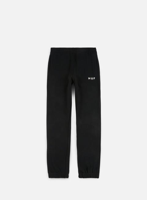 pantaloni huf original fleece pant black