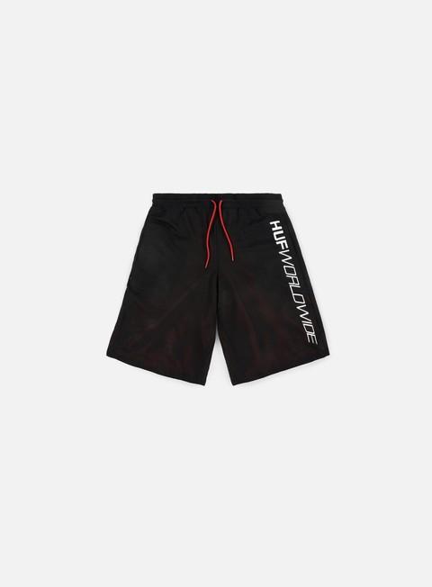 pantaloni huf plantlife reversibile mesh short black