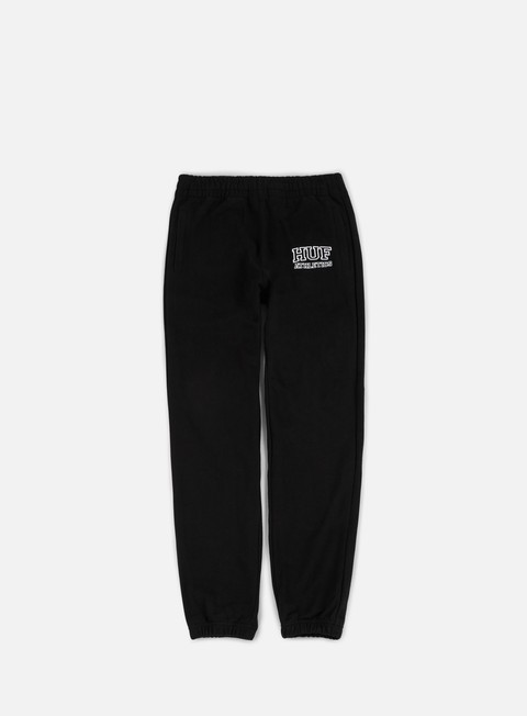 pantaloni huf romes fleece pant black