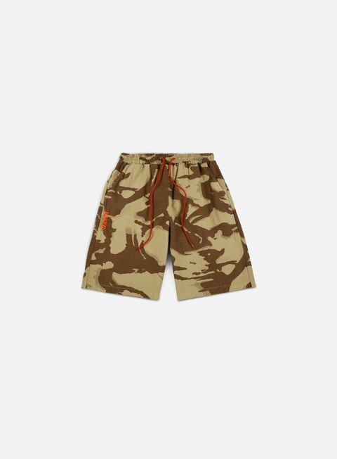 pantaloni iuter dpm dyed camo jogger shorts sand