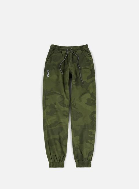 pantaloni iuter dyed camo jogger pants olive