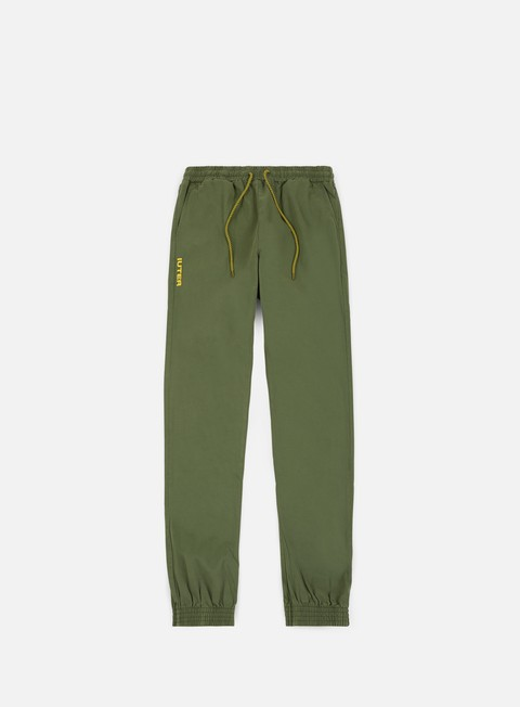 pantaloni iuter jogger pants army yellow