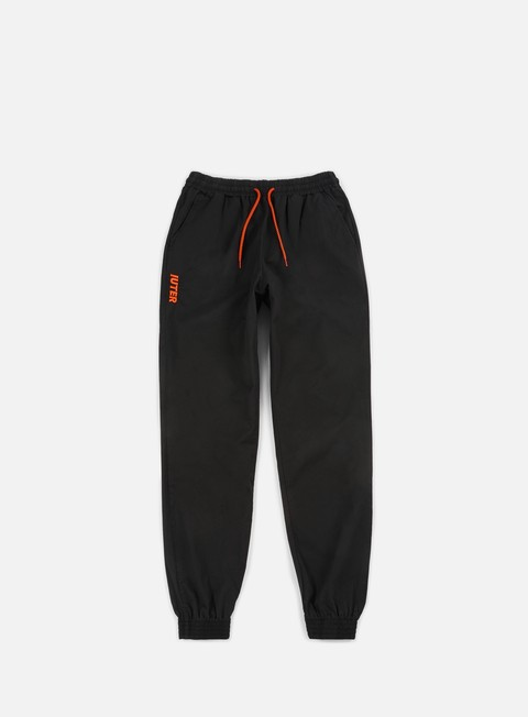 pantaloni iuter jogger pants black orange