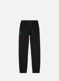 Iuter - Jogger Pants, Black/Turquoise